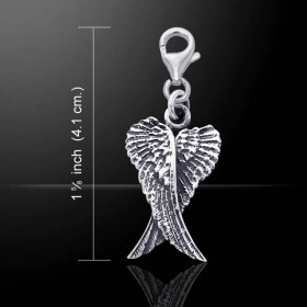 Angelwings clip charm (Sterling silver)